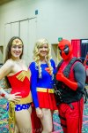 Wonder Woman, Supergirl, and Deadpool