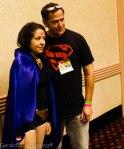 Scott Lobdell with a fan dressed as Raven