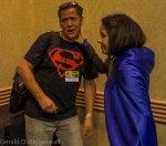 Scott Lobdell with a fan dressed as Raven.