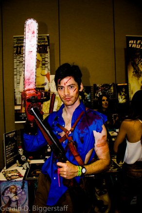 """Ash (Brian McGee) from """"Evil Dead- The Musical"""""""