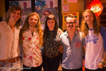 "The Outer Vibe (L to R: Sean Zuidgeest, Nick Hosford, Lisa Kacos, Andrew ""Wonderboy"" Dornoff and Noah Snyder)"